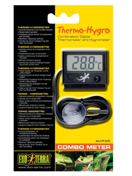 Exo Terra Thermo-Hygro digitales Combo Meter