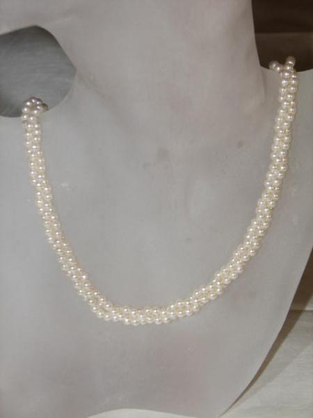 Perlenkette weiss