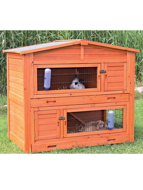 natura kaninchenstall 133 120 83 cm ihr. Black Bedroom Furniture Sets. Home Design Ideas