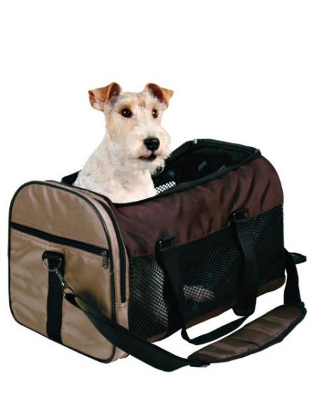 Tasche Samira braun/beige für Hunde